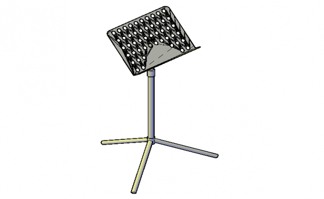 Music stand 3d details