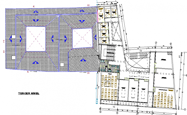 Musical school layout plan dwg file