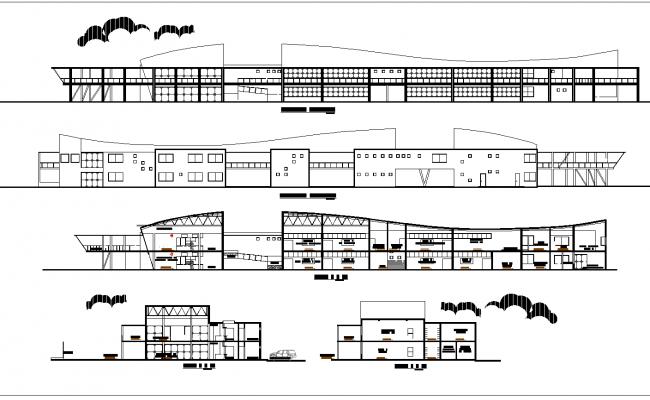 Nautical school plan detail dwg file,