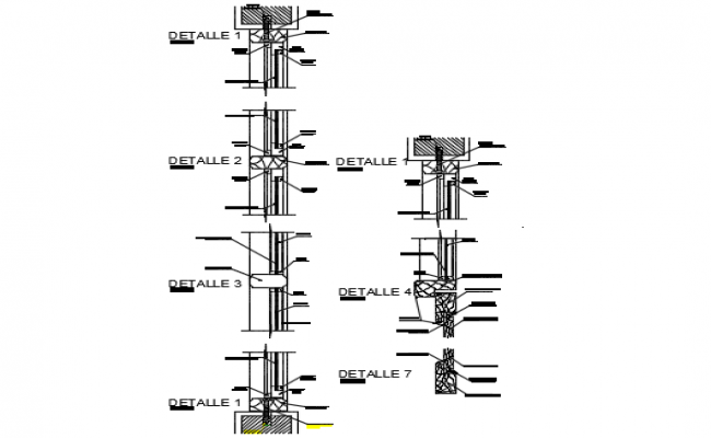 Needle section detail dwg file