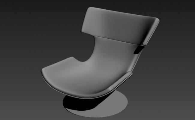 New Style Chair 3D MAX File Free Download