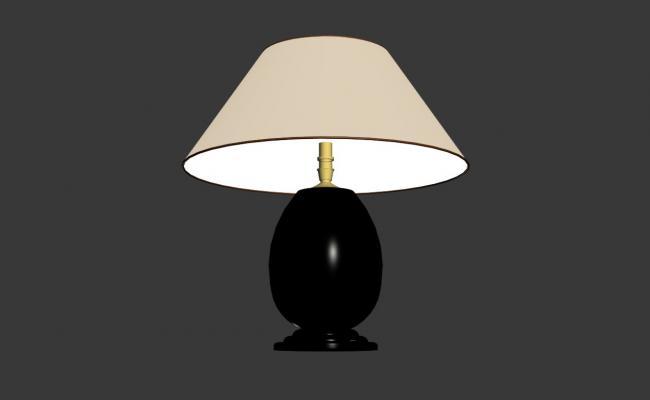 Night lamp 3d model block cad drawing details max file