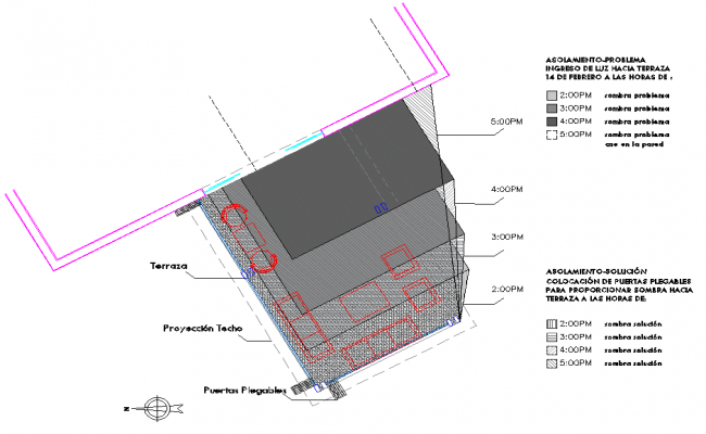 North direction office plan dwg file