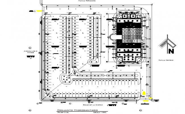 North direction plot detail autocad file