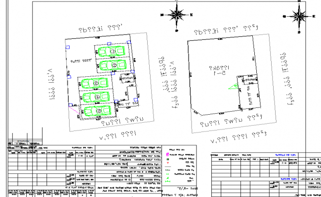 North direction site detail dwg file
