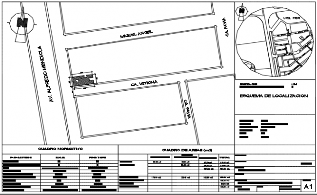 North site plan detail dwg file