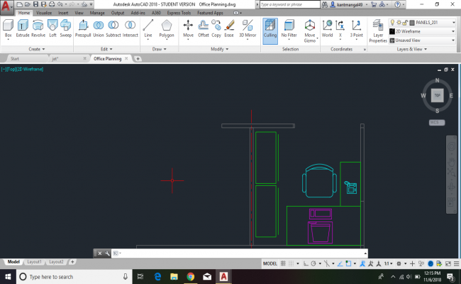 OFFICE 2D PLAN