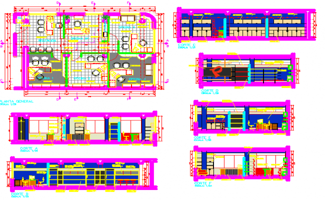Office plan dwg file