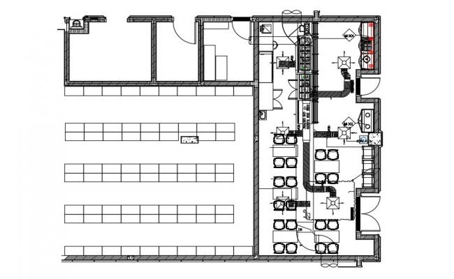 Office Building Design Layout Architecture Plan