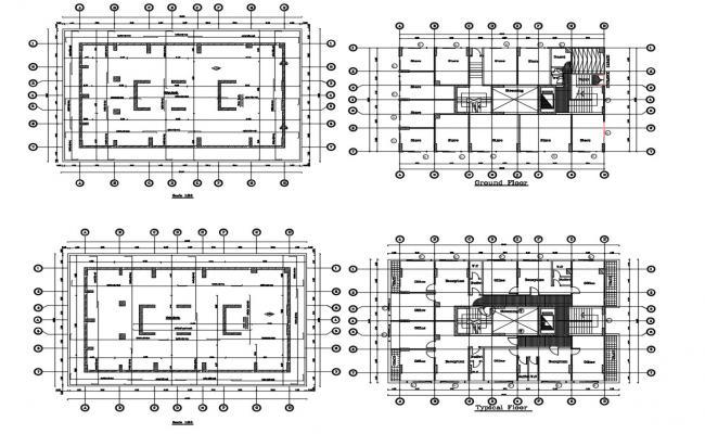 Office Building Design Working Plan Download