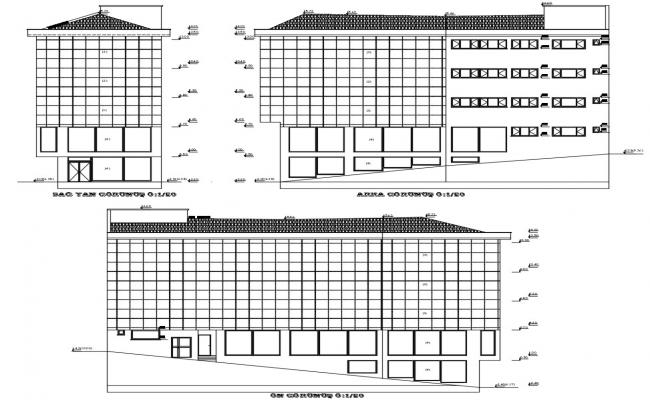 Office Building Elevation CAD Drawing
