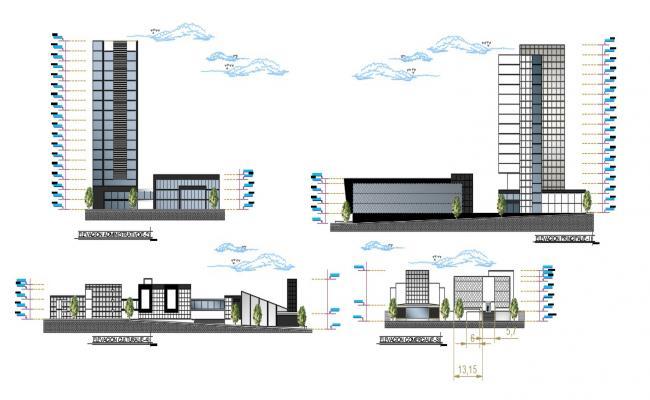 Office Building Elevation Design