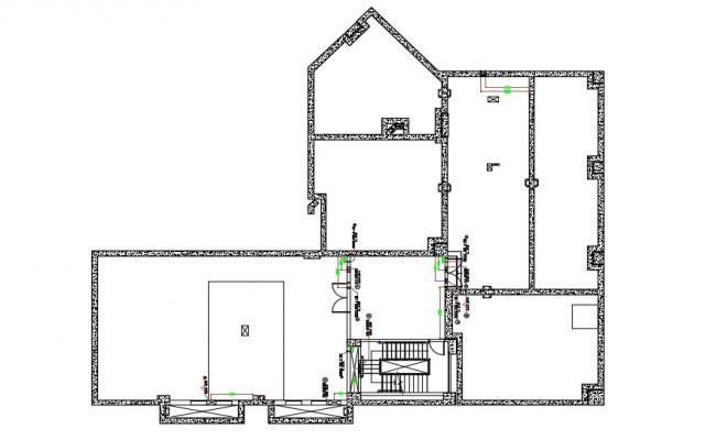 Office Building Layout Architecture Plan CAD File