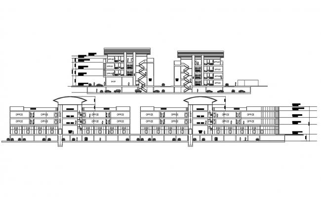 Office Building Section Plan