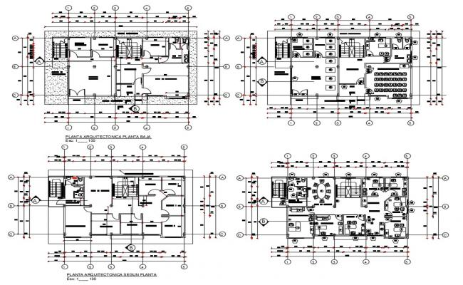 Office Building Working Plan AutoCAD Architecture Drawing