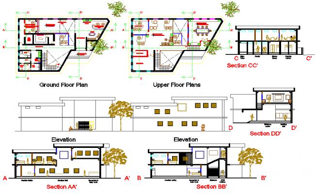 Office Building Floor Plans: Office Building Design Autocad File