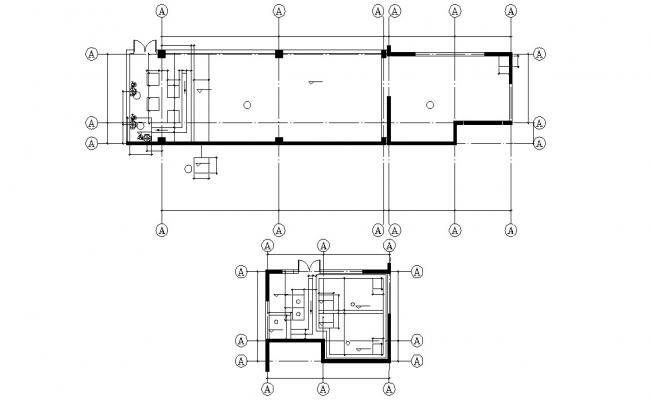 Office Column Layout Plan Free DWG File