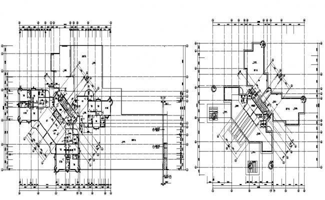Office Commercial Building Design 2d CAD Drawing