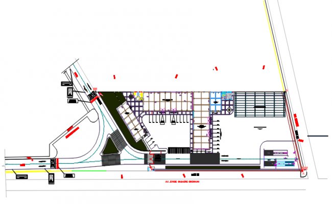 Office Commercial plan detail dwg file