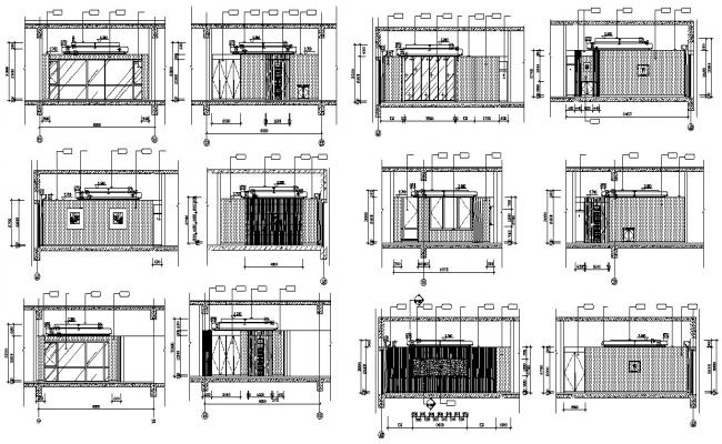 Office Floor Elevation Design DWG File