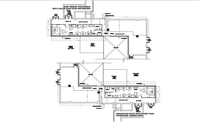 Office Floor Plan DWG File