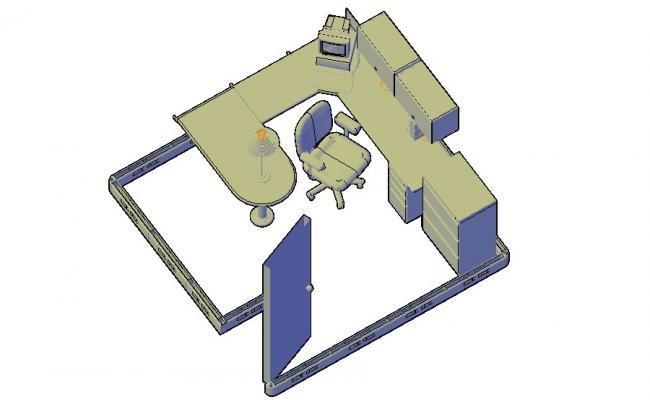 Office Furniture Blocks 3d model AutoCAD Drawing