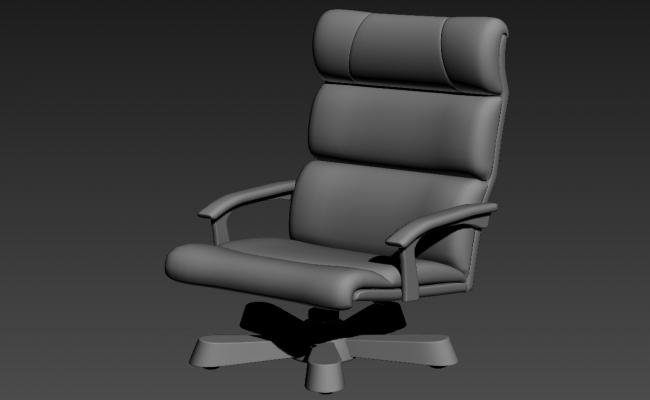Office Furniture Chair Block 3ds Max File Free Download