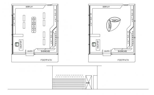 Office Room Layout Free DWG File