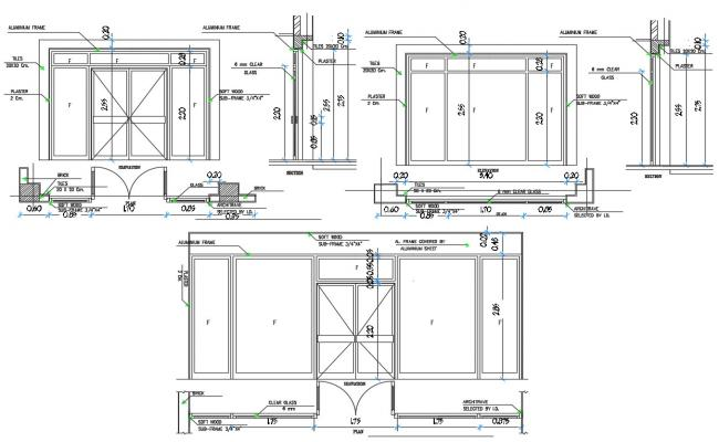 Office Room Partition DWG File