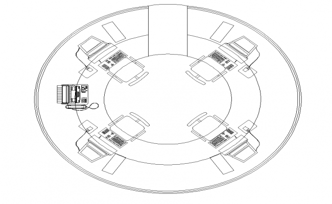 Office Table CAD furniture detail layout dwg file