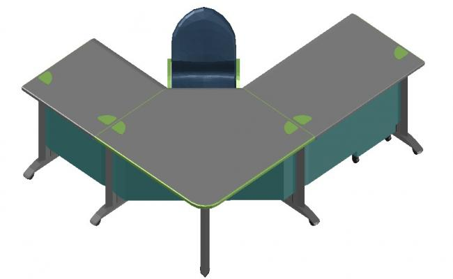 Office Table and Chair Design Furniture 3d model