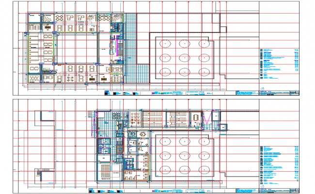 Office and Restaurant layout plan with detailing Dwg file