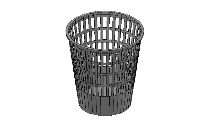 Office bin basket 3d