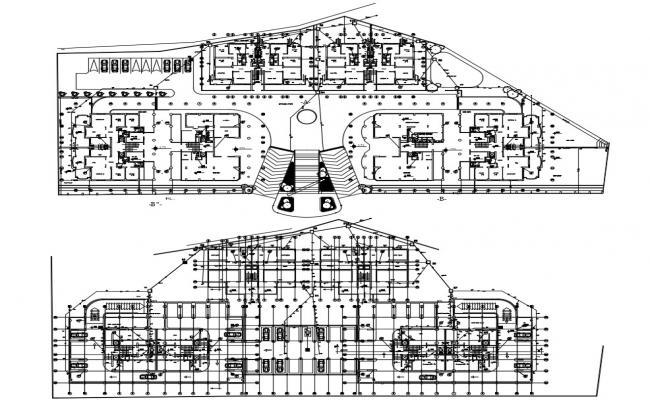 Office building Design CAD plan download