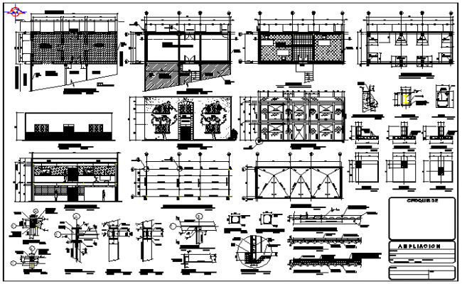Office building design drawing