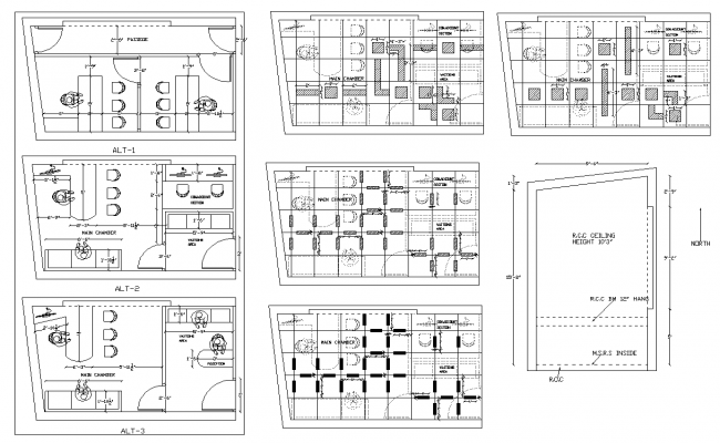 Office building detail 2d view plan layout autocad file