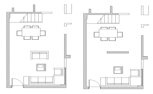 Office building detail plan 2d view autocad file