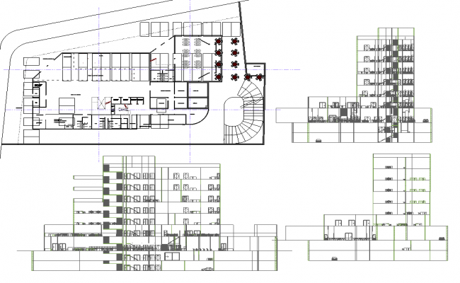 Building Floor Plan Detail And Foundation Plan Layout Detail Dwg ...