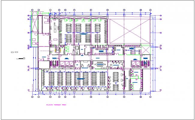 building floor plan for Washington dwg file
