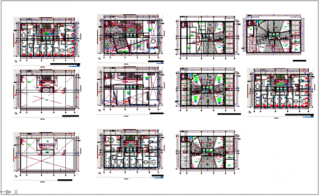 Office building floor plan view detail dwg file