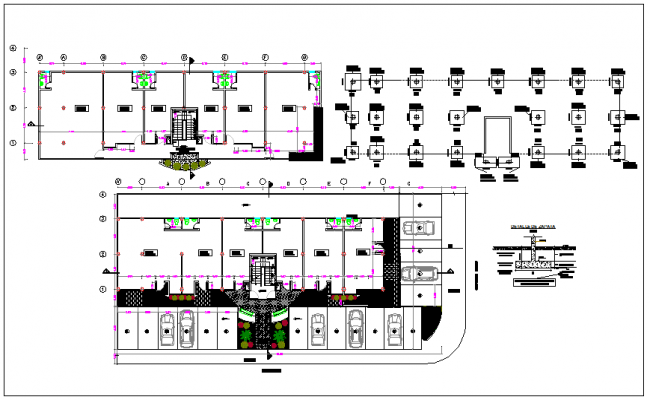 Office building plan and design plan layout view dwg file