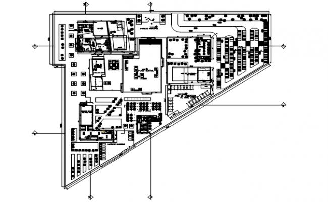 Office building plan detail dwg file