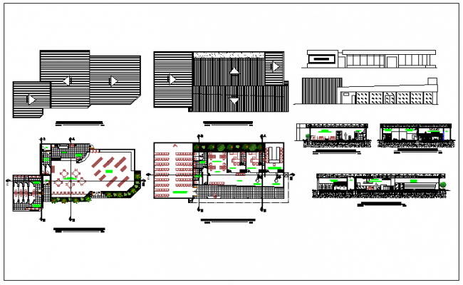 Office building plan detail information dwg file