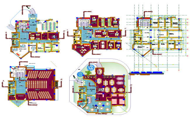Office building Layout plan with detailing