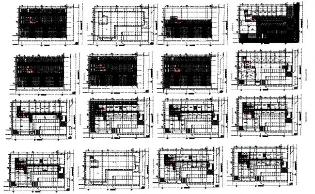 Office building plan dwg file