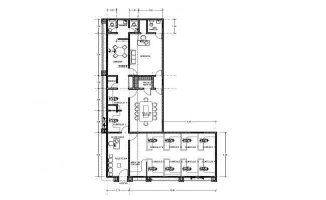 Office Layout In AutoCAD File