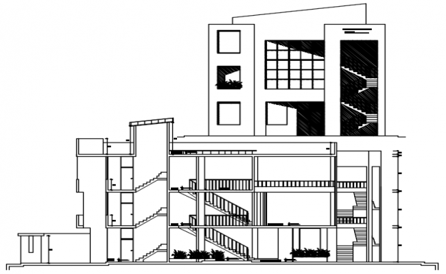 Office design drawing in AutoCAD