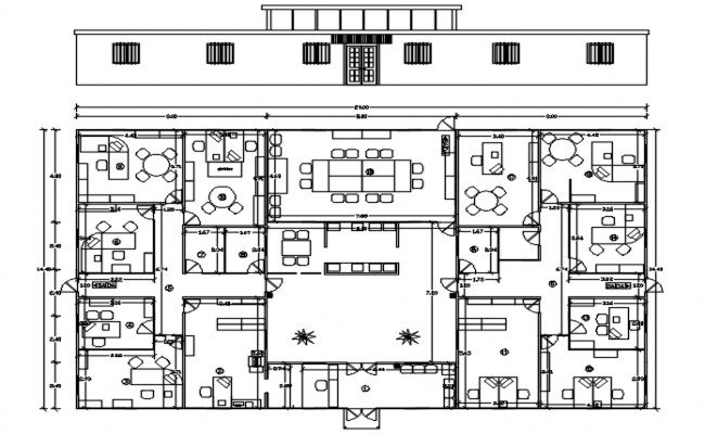 Office Plan Free AutoCAD Drawings