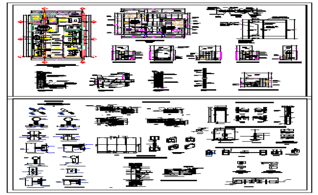 Office detail design drawing