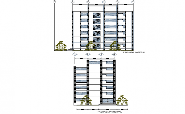 Office elevation detail
